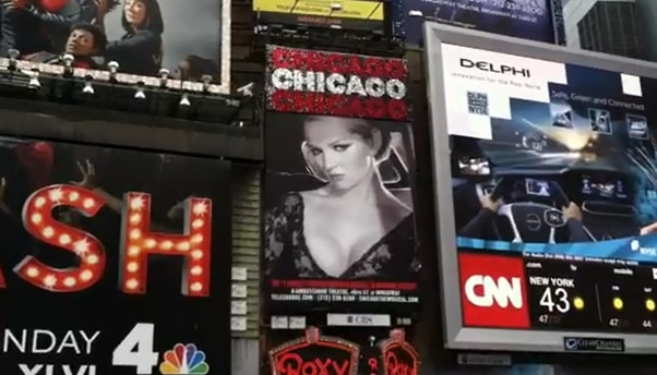 Chicago, Times Square, New York